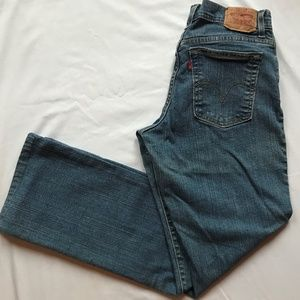 Levi's Relaxed Boot Cut 550 Stretch Blue Jeans.